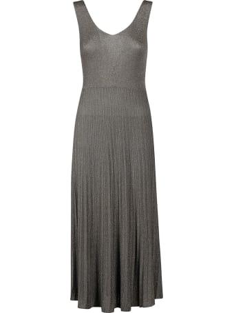 Roberto Collina Ribbed Skirt Sleeveless Long Dress
