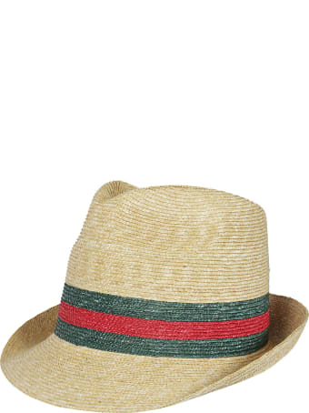 Gucci Web Panama Hat