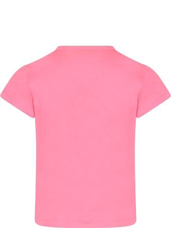 Dimensione Danza Neon Fuchsia T-shirt With Logo For Girl