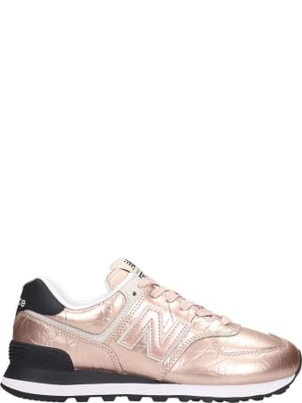 New Balance 574 Sneakers In Rose-pink Leather