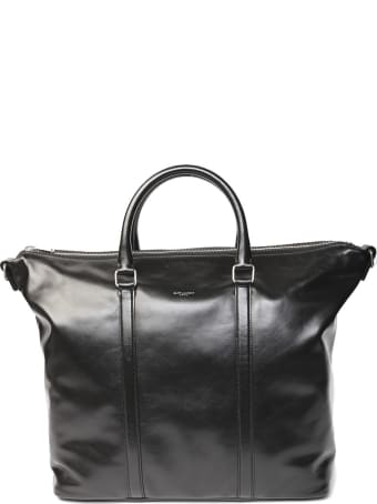 Saint Laurent Supple Sac De Jour Black Leather Duffle Bag
