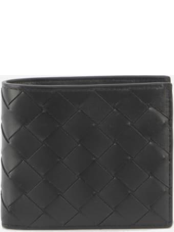 Bottega Veneta Bi-fold Wallet In Leather With Woven Pattern