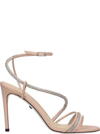 Grey Mer Sandals In Rose-pink Suede