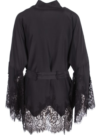 Gold Hawk 'coco Lace' Silk Shirt