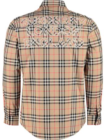 Burberry Checked Cotton Shirt