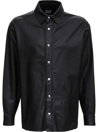 Trussardi Black Leather Shirt
