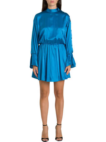 Federica Tosi Short Silk Dress With Coulotte