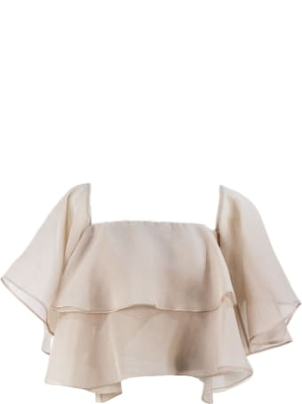 Brunello Cucinelli Nude Silk Top