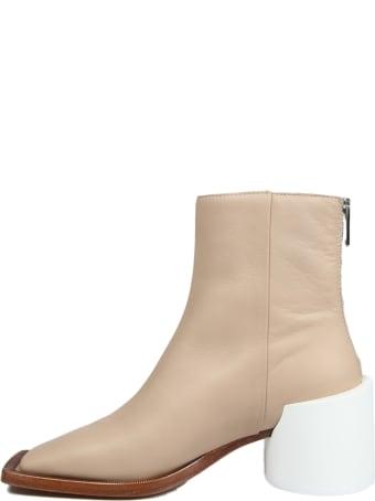 MM6 Maison Margiela Squared Toe Ankle Boots
