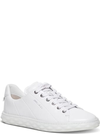 Jimmy Choo Diamond Light Sneakers In White Leather