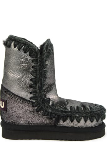Mou Eskimo In Black Microglitter