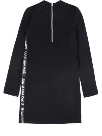 Balmain Black Cotton Blend Dress