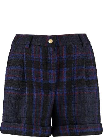 Jucca Cuffed Tartan Wool Shorts