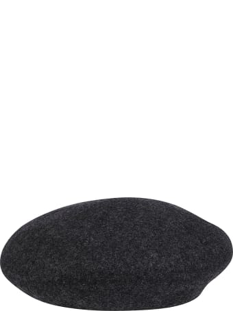 CA4LA Dark Grey Wool Beret