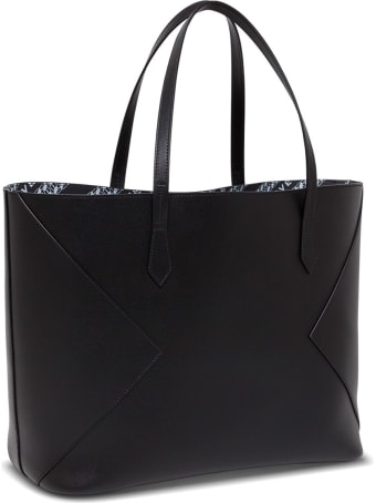 Givenchy Black Leather Shopper With Logo