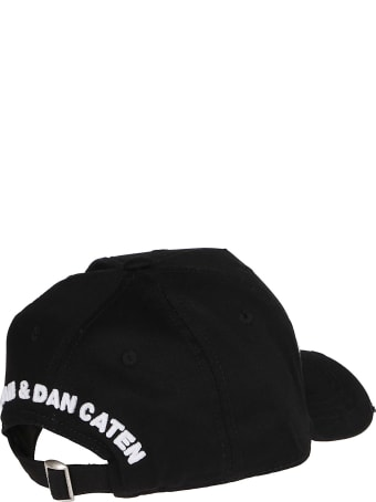 Dsquared2 Black Cotton Baseball Cap