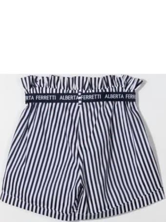 Alberta Ferretti High Waist Striped Shorts
