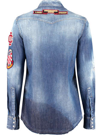 Dsquared2 Embroidered Denim Shirt