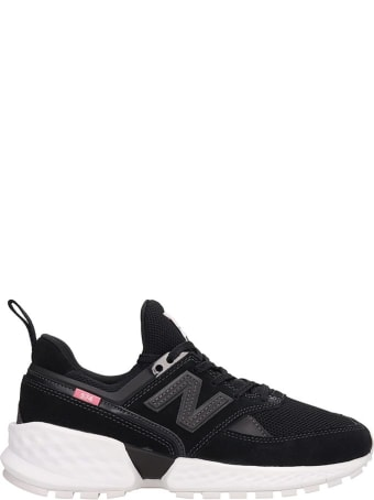 New Balance Black Suede And Fabric 574 Sneakers