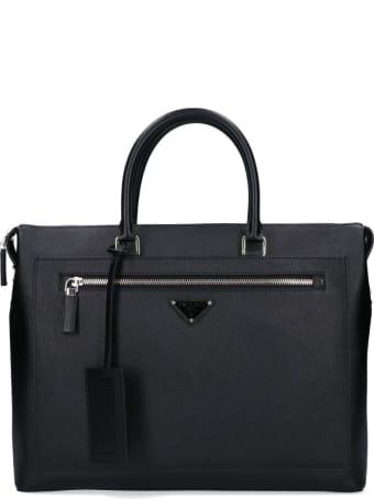 Prada Logo Briefcase