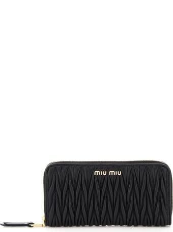 Miu Miu Matelasse' Zip-around Wallet