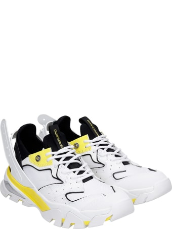 Calvin Klein Jeans Calador Sneakers In White Leather