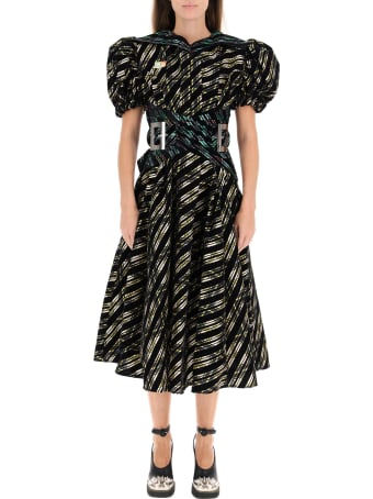 Chopova Lowena Midi Dress In Organza