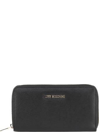 Love Moschino Black Faux Leather Logo Wallet