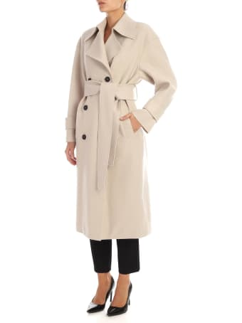Harris Wharf London - Double-breasted Coat With Fleece Lining