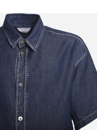 Bottega Veneta Short-sleeved Shirt Made Of Cotton Denim