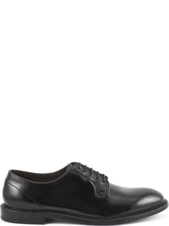 Green George Black Derby Shoes