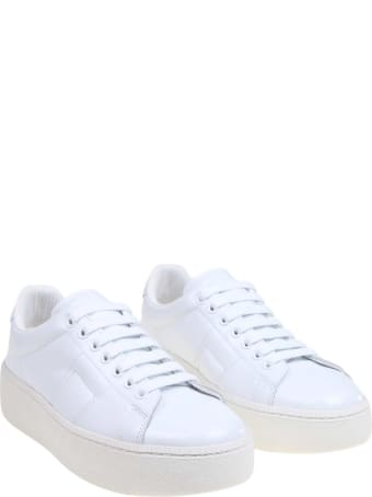Maison Margiela White Leather Sneakers