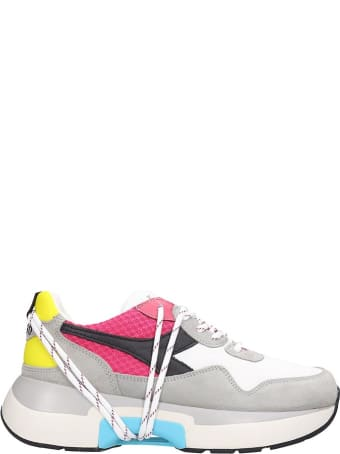 Diadora Txs  Sneakers In White Nylon And Leather