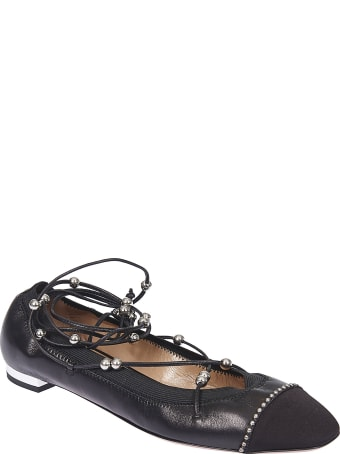 Aquazzura Mystique Bead Lace Ballerinas