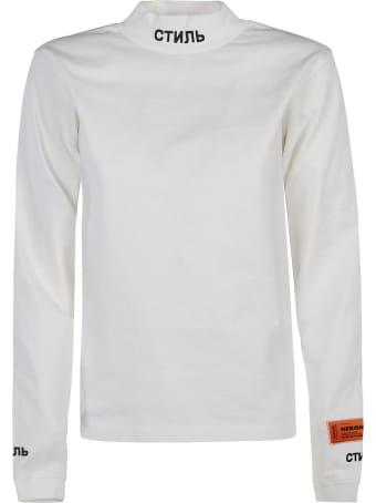 HERON PRESTON Hp Warped Turtleneck Sweatshirt