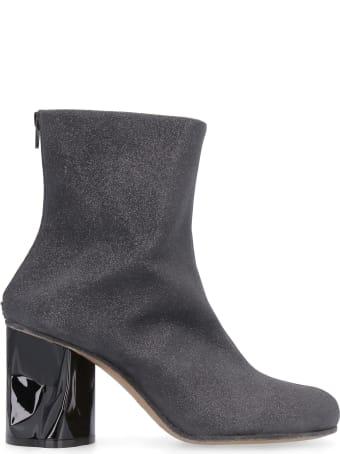 Maison Margiela Glittery Fabric Ankle-boots
