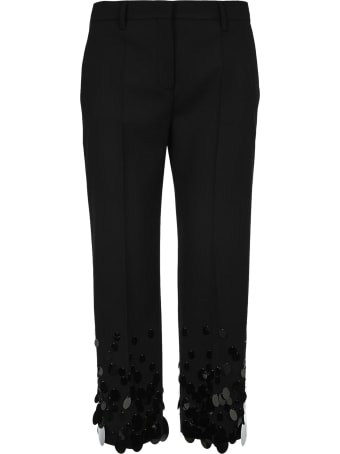 Prada Cropped Sequin Disc Trousers