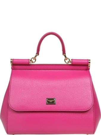 Dolce & Gabbana Medium Sicily Bag In Dauphine Leather