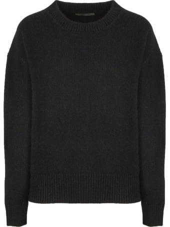 Laneus Black Wool-angora Blend Sweater