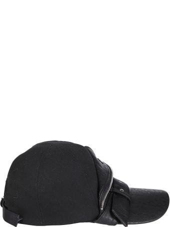 CA4LA Black Viscose Blend Baseball Cap