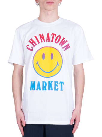 Chinatown Market Smiley Logo T-shirt- White