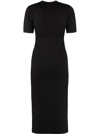 Fendi Jacquard Knit Midi-dress