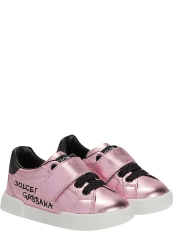Dolce & Gabbana Pink Sneakers