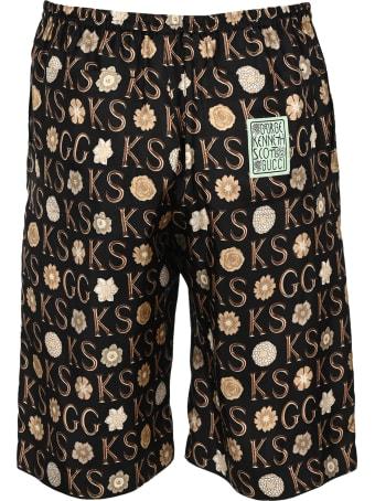 Gucci Ken Scott X Gucci Print Silk Shorts