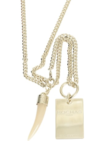 Rochas Fang Pendant Necklace