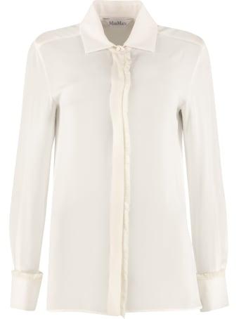 Max Mara Mogador Long-sleeved Silk Shirt