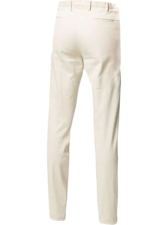 Incotex Beige Stretch Cotton Trousers