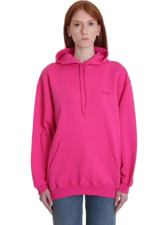 Balenciaga Sweatshirt In Fuxia Cotton