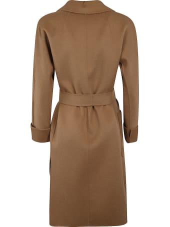 'S Max Mara Shawl Collar Bow-tie Mid-length Coat