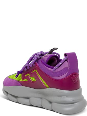 Versace Chain Reaction Leather Sneakers